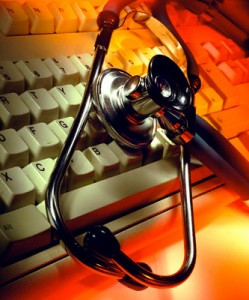 Stethoscope and Computer Keyboard